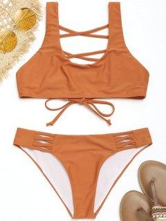 Strappy U Cou Maillot De Bain - Orange S
