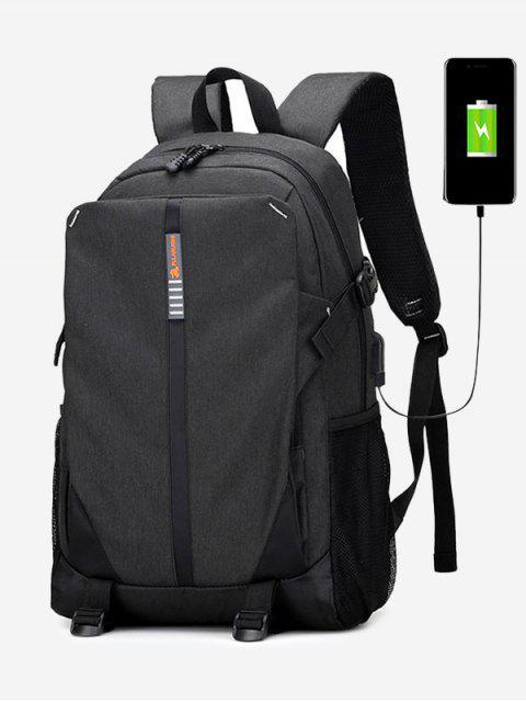USB-Ladeanschluss Rucksack - Schwarz  Mobile