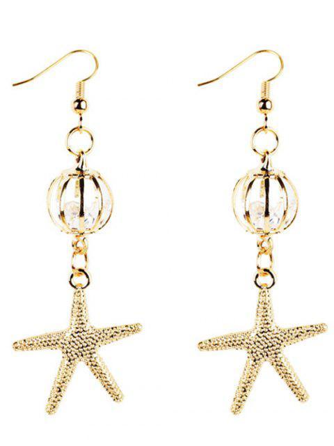 Boucles d'oreilles décorées Vintage Starfish doré - Or  Mobile