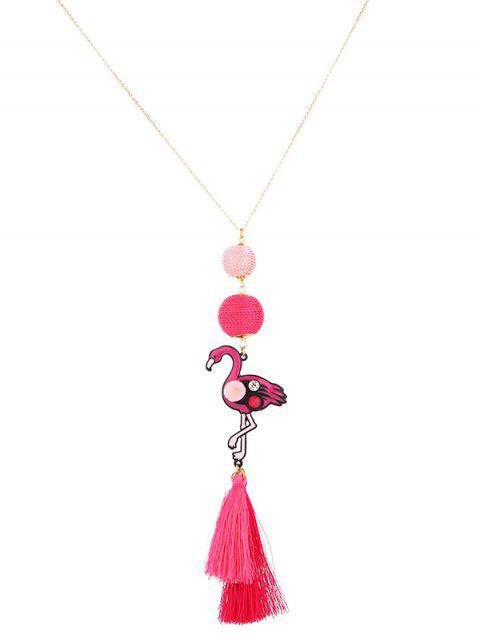Collier boule de strass Flamingo Tassel - Or  Mobile