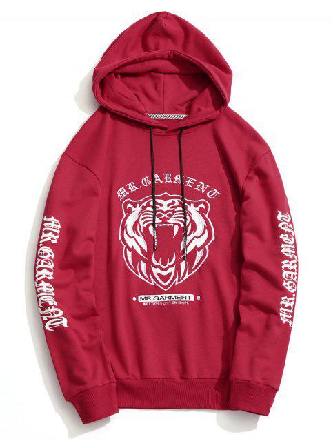 Sudadera con capucha bordada - Rojo M Mobile