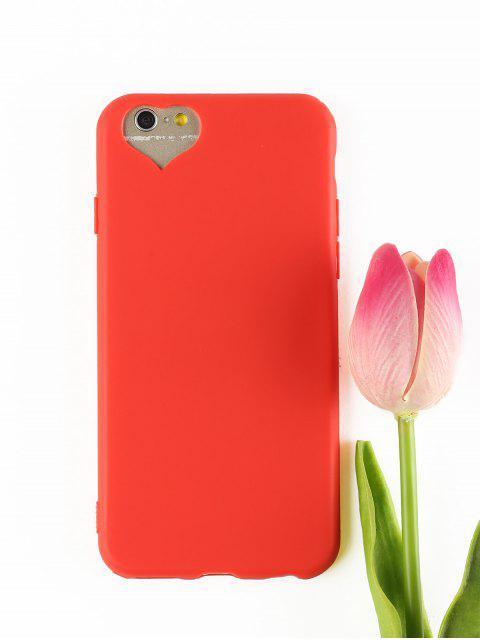 Etui de Téléphone Portable Motif Cœur pour Iphone - Rouge POUR IPHONE 6 / 6S  Mobile