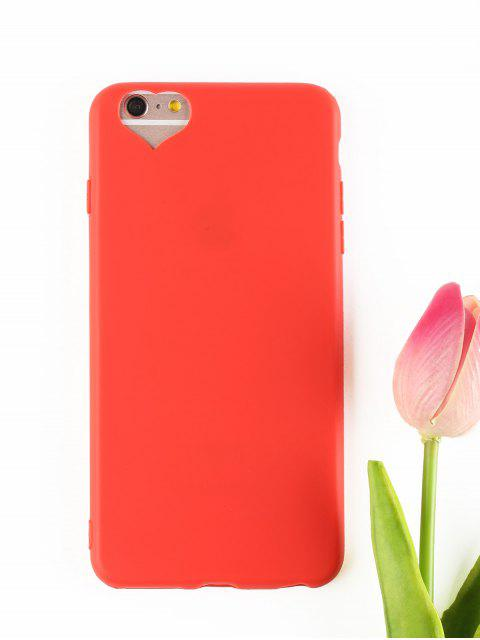shop Heart DIY Phone Case For Iphone - RED FOR IPHONE 6 PLUS / 6S PLUS Mobile