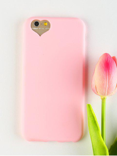 unique Heart DIY Phone Case For Iphone - PINK FOR IPHONE 6 / 6S Mobile