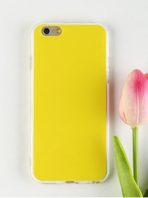 chic DIY Phone Case For Iphone - YELLOW FOR IPHONE 6 / 6S Mobile