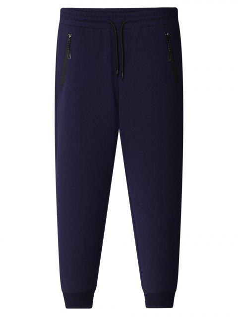 shops Zipper Pocket Jogger Pants - CADETBLUE 4XL Mobile