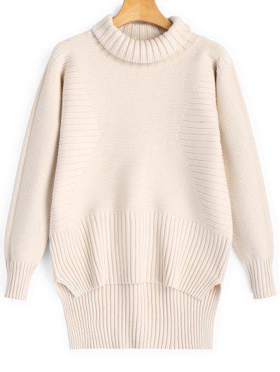 0e024c6b82ea7 Turtleneck High Low Pullover Sweater - Light Apricot