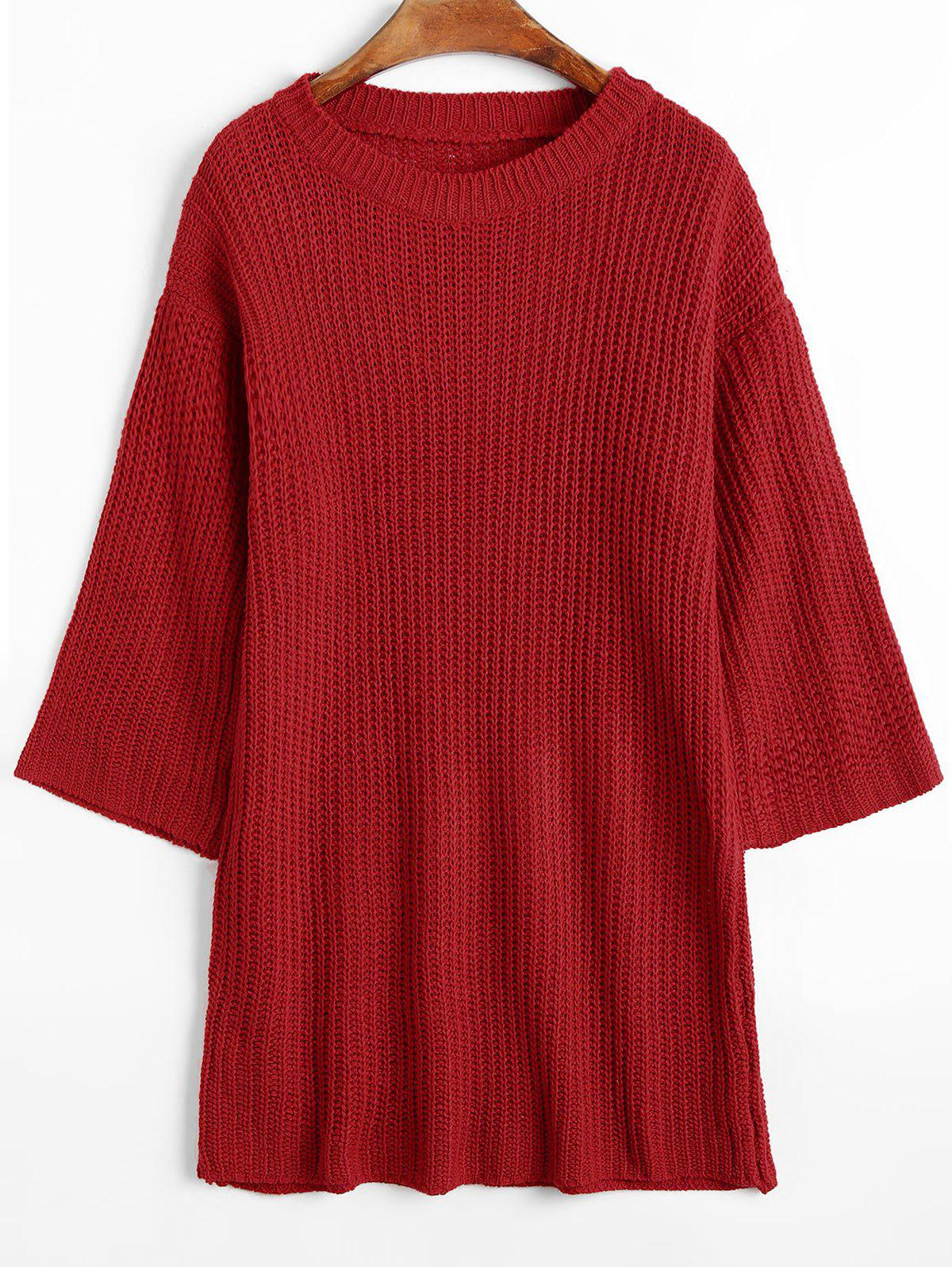 Longline Ribbed Chunky Sweater 233106301