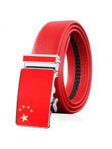 Drapeau De La Chine Boucle Automatique Embellie - Rouge 120cm