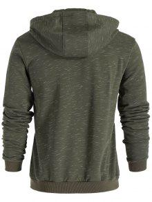 Hoodie L Zip Verde Claro Drawstring Up AgUxEaqxw