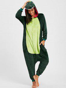 الديناصور الحيوان نيسيي بيجامة - أخضر M