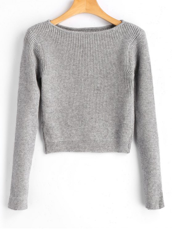 Long Sleeve Fitting Pullover Sweater GRAY: Sweaters ONE SIZE | ZAFUL