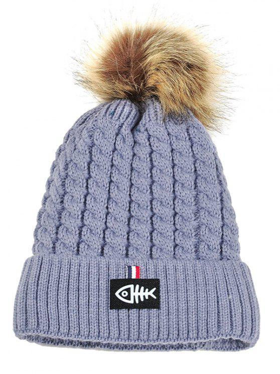 Fishbone Muster Verschönert Häkeln Gestrickte Mütze Licht Grau: Hüte ...