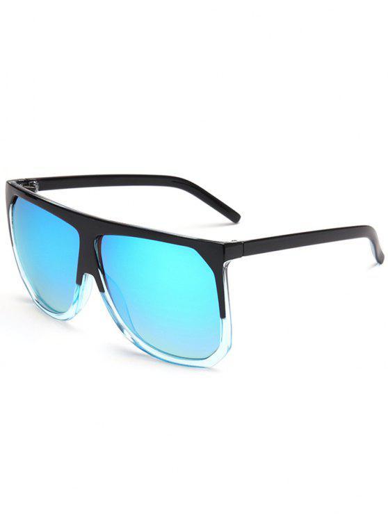 hot Vintage Full Frame Oversized Square Sunglasses - BLUE