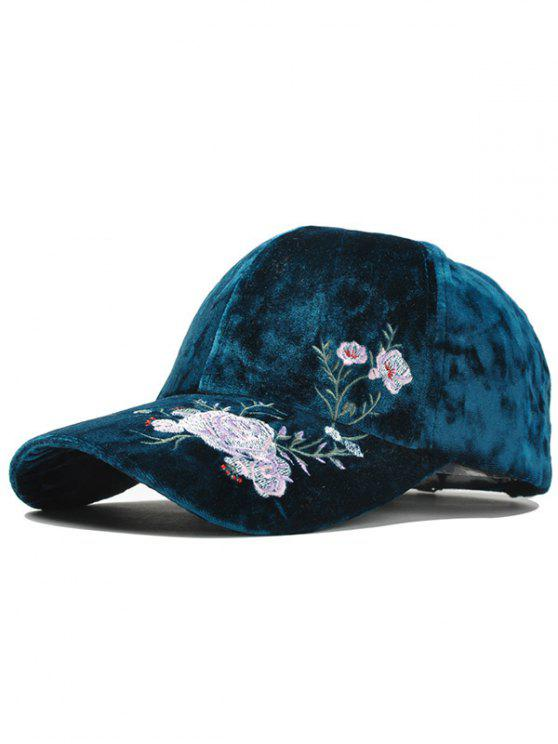 ladies Outdoor Floral Embroidery Thicken Baseball Cap - OASIS