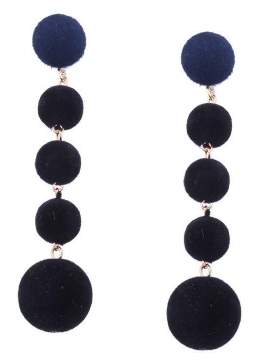 affordable Ball Beaded Earrings - BLACK