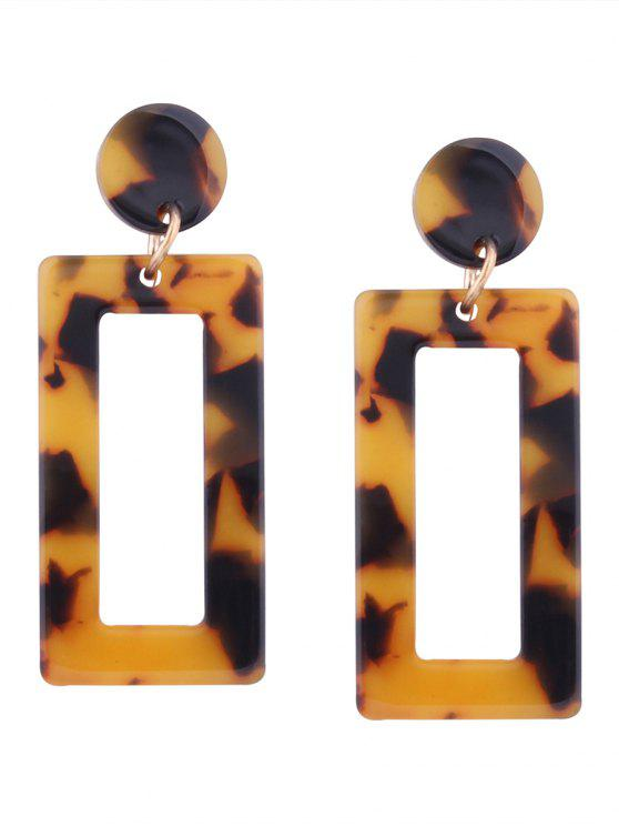 shops Resin Simple Geometric Earrings - YELLOW