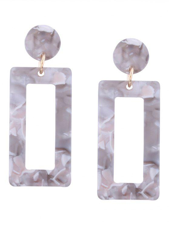 chic Resin Simple Geometric Earrings - GREY AND WHITE