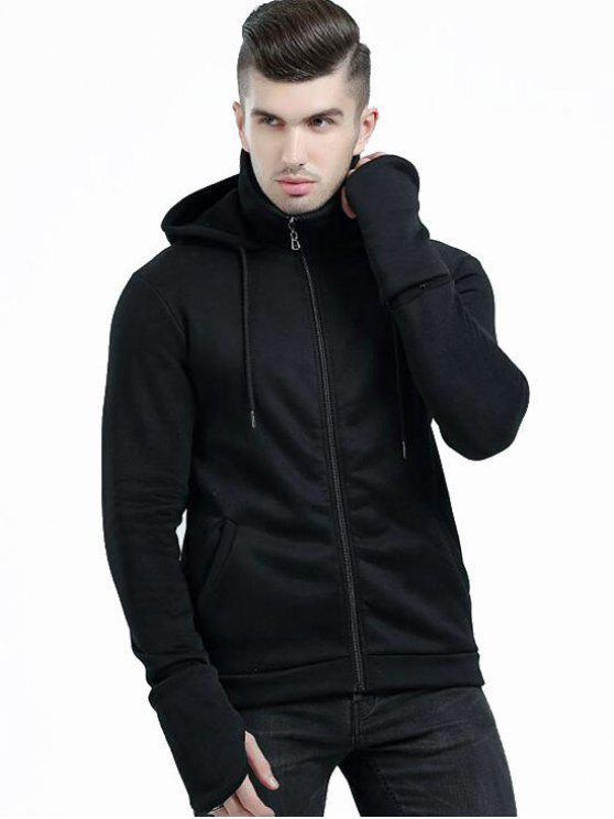 هوديي بسحاب مع جيوب - أسود XL