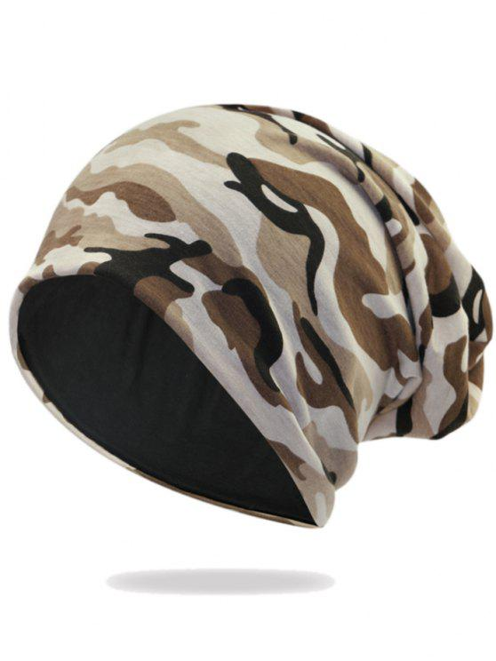 sale Outdoor Camo Pattern Embellished Lightweight Beanie - PATTERN A