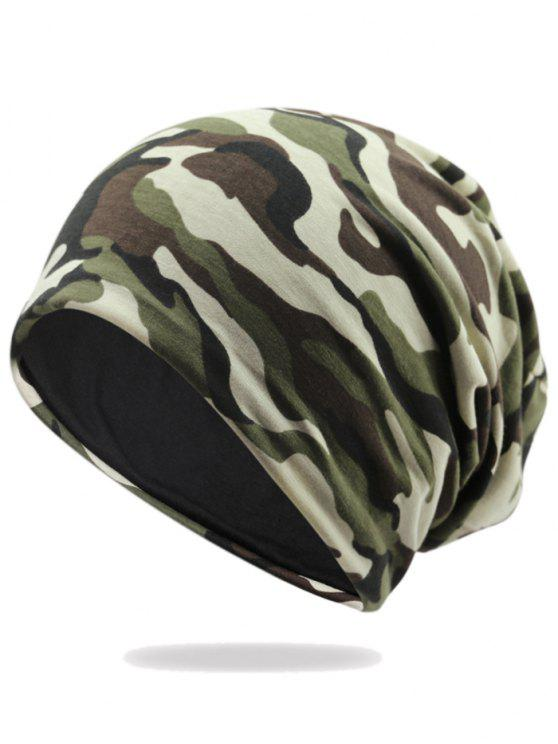 buy Outdoor Camo Pattern Embellished Lightweight Beanie - PATTERN C