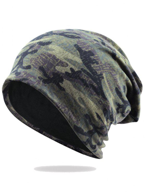 women Outdoor Camo Pattern Embellished Lightweight Beanie - PATTERN E