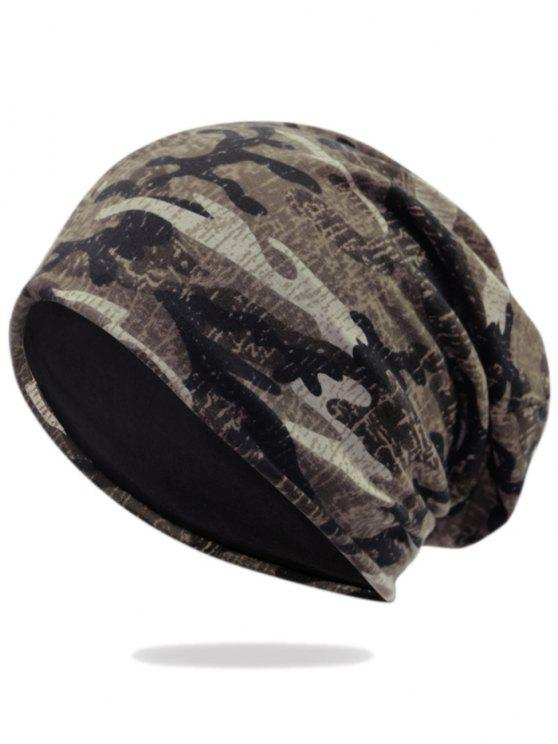 women's Outdoor Camo Pattern Embellished Lightweight Beanie - PATTERN F