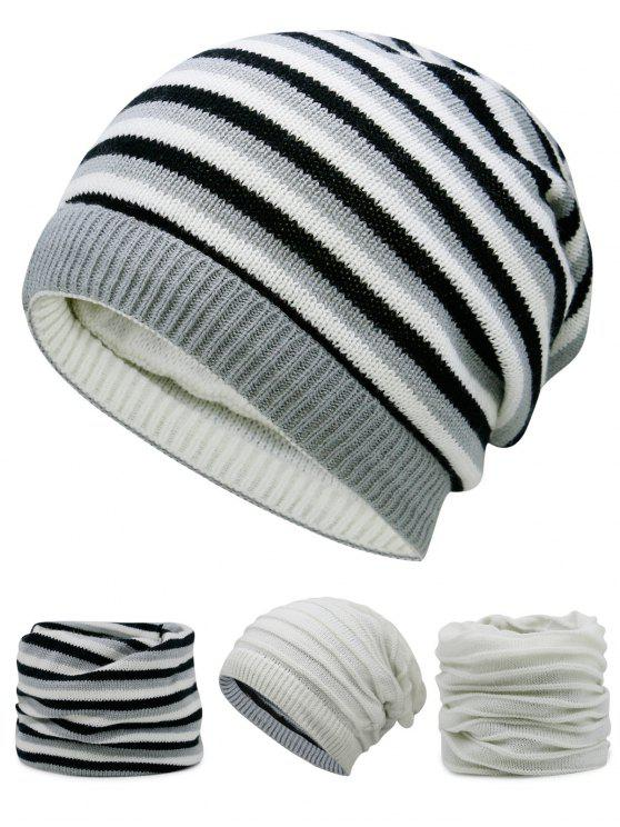 outfit Ponytail Hole Embellished Reversible Crochet Knitted Beanie - OFF-WHITE