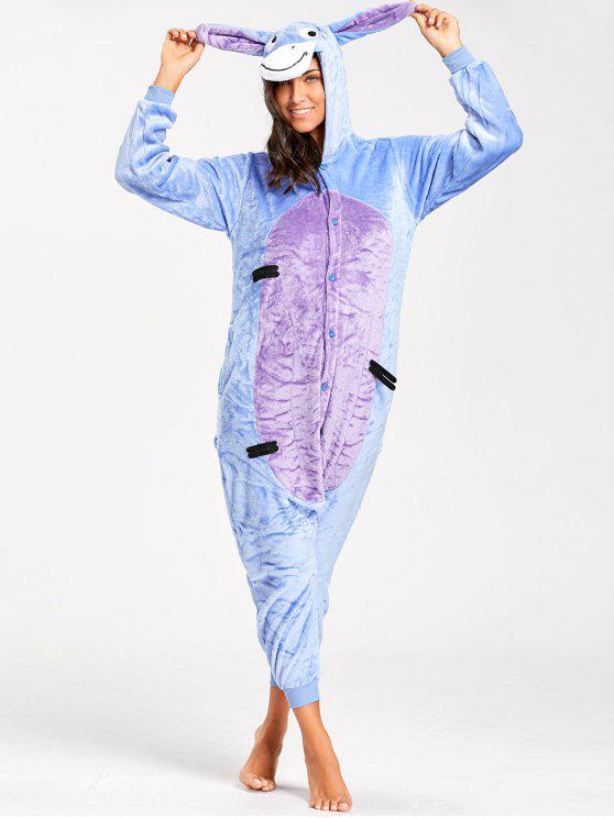 35% OFF  2019 Funny Donkey Animal Onesie Pajamas In BLUE XL  bd70db63d