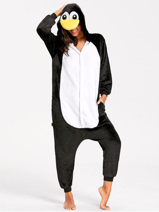 Pijamas de Animal de Pingüino para Adulto - Amarillo XL