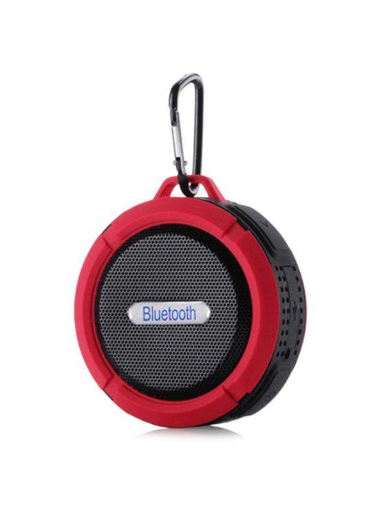 outfit Waterproof Wireless Mini Outdoor Bluetooth Speaker - RED 9*9*5CM