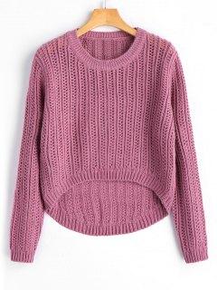 Suéter De Jersey Alto Y Plisado - Púrpura Rosácea