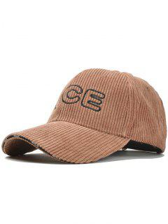 Nice Pattern Embroidery Corduroy Baseball Cap - Coffee