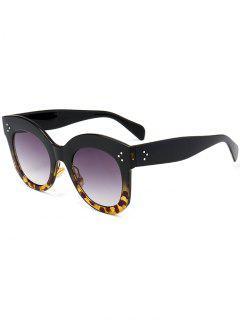 Gafas De Sol De Marco Completo De Protección UV Retro - Negro + Leopardo C2