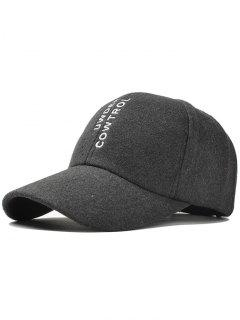 Vertical Letter Embroidery Graphic Hat - Deep Gray