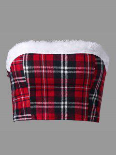 Christmas Plaid Tube Top - Checked L
