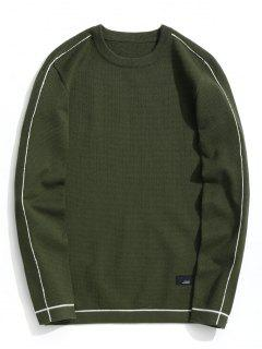 Crew Neck Pullover Sweater - Army Green 2xl