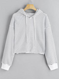 Cropped Striola Hoodie - White And Black S