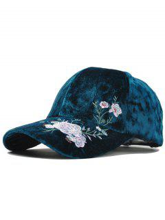 Outdoor Floral Embroidery Thicken Baseball Cap - Oasis