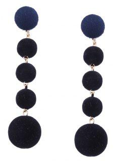 Ball Beaded Earrings - Black