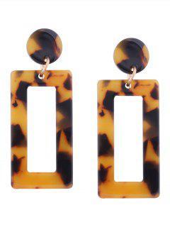 Resin Simple Geometric Earrings - Yellow