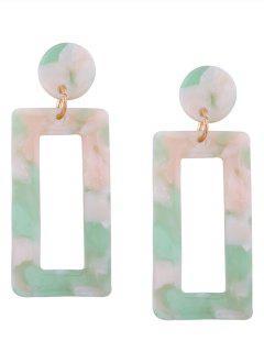 Resin Simple Geometric Earrings - Green