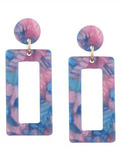 Resin Simple Geometric Earrings - Pinkish Blue