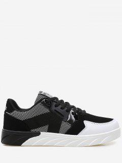 Stitching Color Block Casual Shoes - Black 45