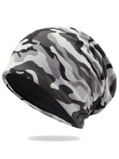 Outdoor Camo Pattern Embellished Lightweight Beanie - Pattern D