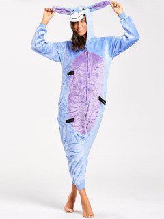 Funny Donkey Animal Onesie Pajamas - Blue Xl
