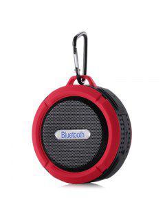 Mini Altavoz Inalámbrico Al Aire Libre Impermeable De Bluetooth - Rojo 9*9*5cm