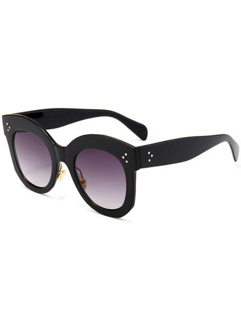 buy Retro UV Protection Full Frame Sunglasses - BLACK FRAME+GREY LENS  Mobile