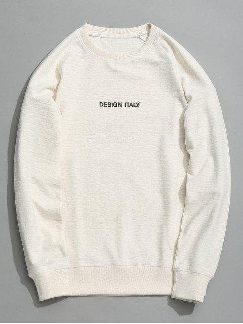 unique Letter Crew Neck Sweatshirt - WHITE L Mobile