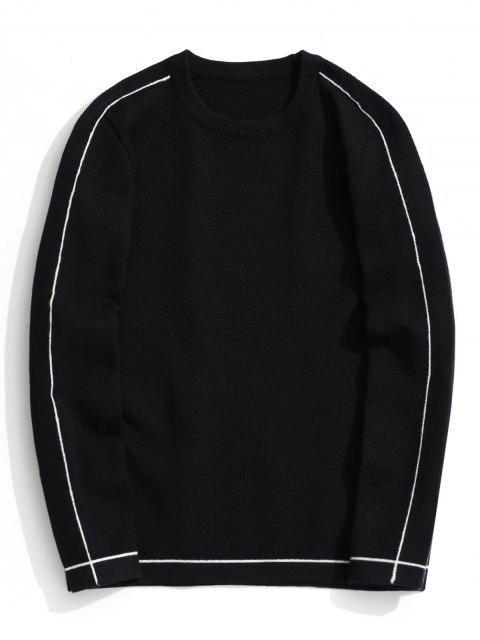 Pullover mit Rundhalsausschnitt Pullover - Schwarz 3XL Mobile